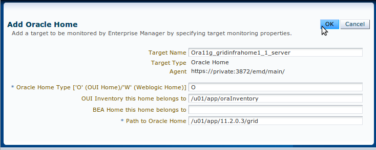 Manually Adding Oracle Home